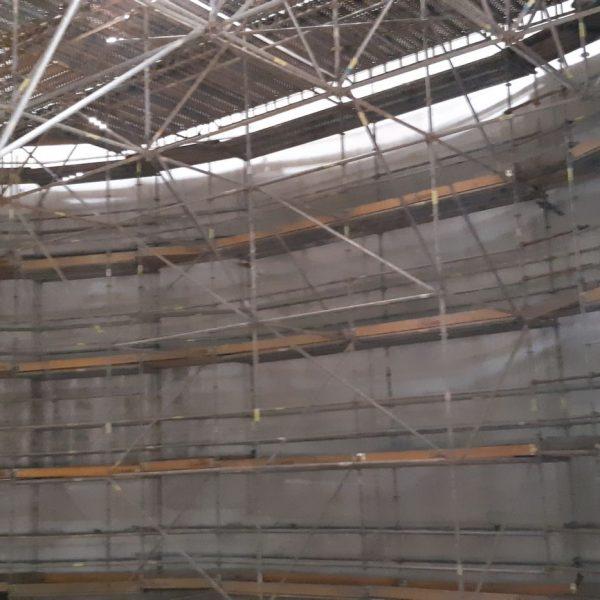 Ponteggio tridimensionale interno digestore per risanamento pareti 1