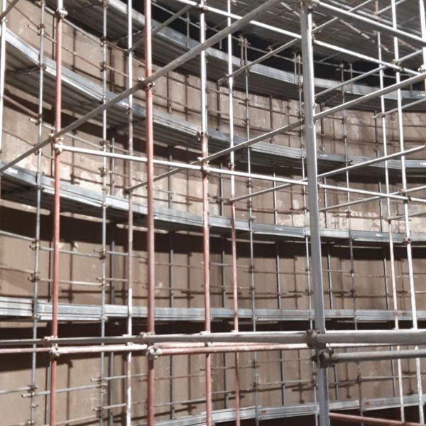 Ponteggio tridimensionale interno digestore per risanamento pareti 2