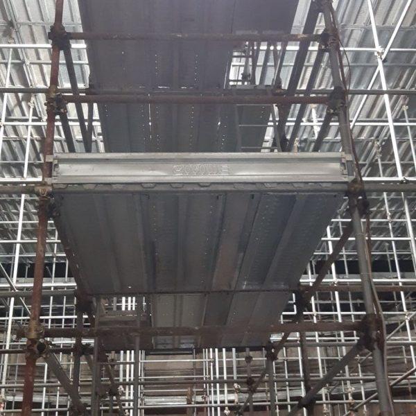Ponteggio tridimensionale interno digestore per risanamento pareti 3