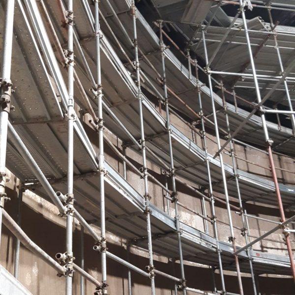 Ponteggio tridimensionale interno digestore per risanamento pareti 4