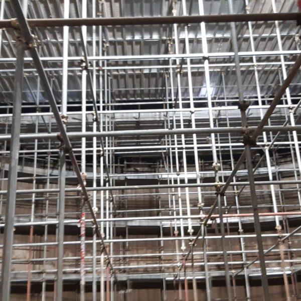 Ponteggio tridimensionale interno digestore per risanamento pareti 5